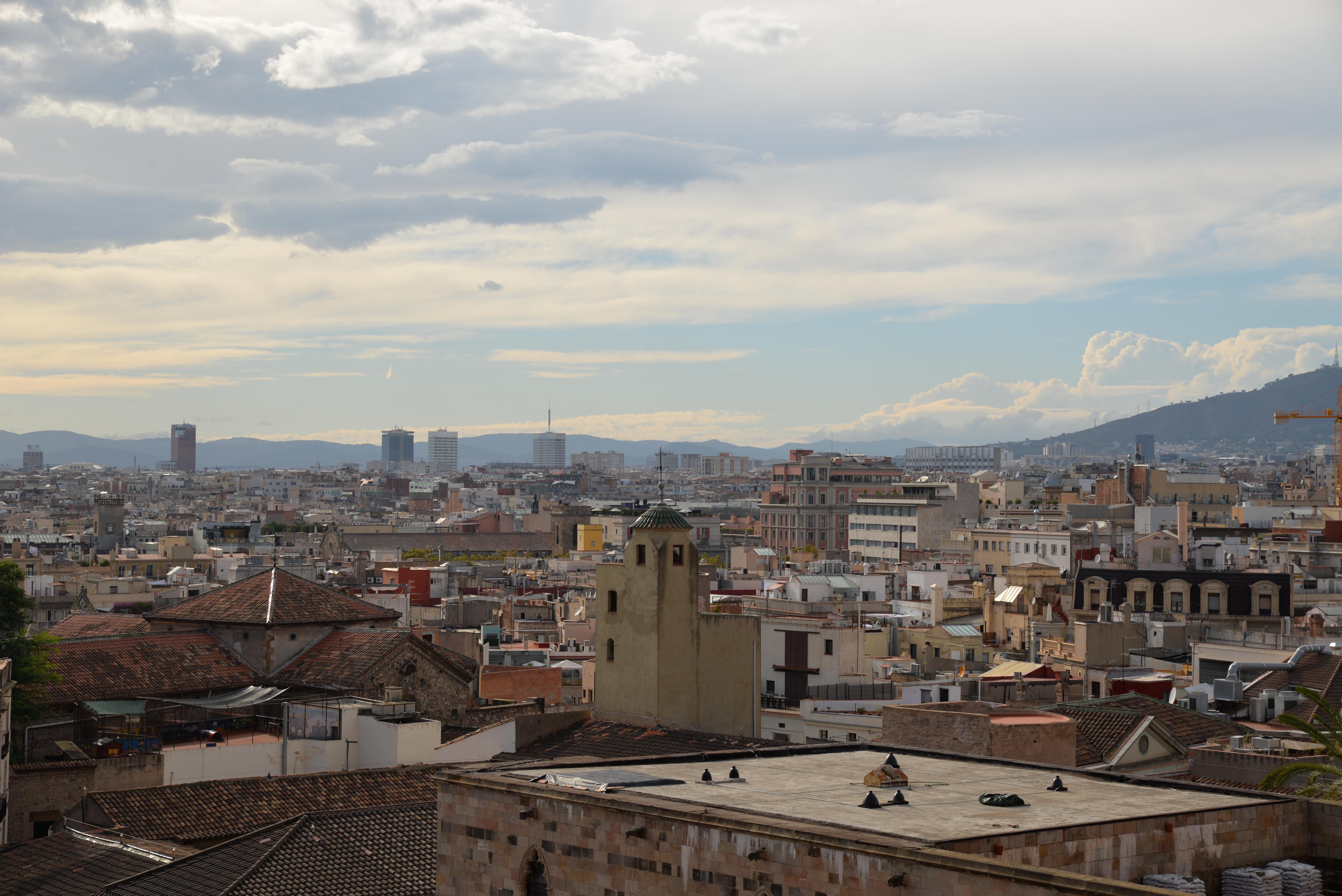 panorama Barcelony katedra Eulalii